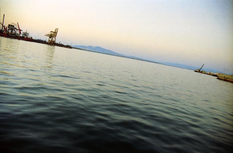 quiete, porto di Piombino (Livorno), estate 2004