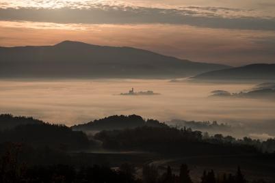mare di nebbia, Poppi, dicembre 2015