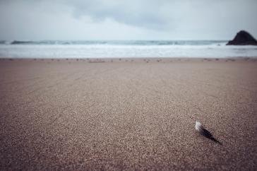 descanso, Playa de Vega, Asturias, luglio 2015